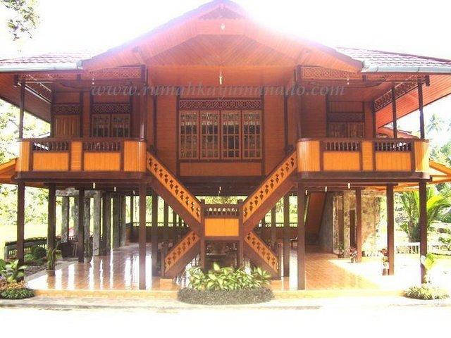 rumah adat manado rumah kayu panggung